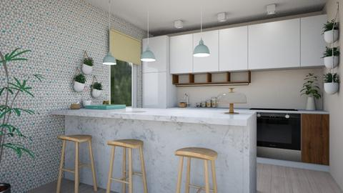 little flat2 - Modern - Kitchen - by levai_magdolna