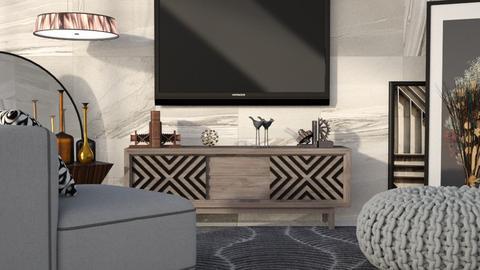 M_ Fabric - Living room - by milyca8