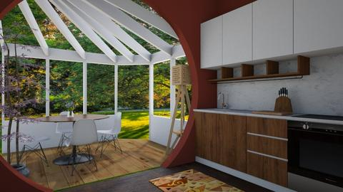 Kitchen and Conservatory - Classic - Kitchen - by Bekah Lynn