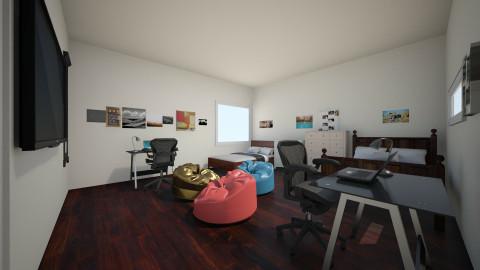 twin bedroom - Bedroom - by dionicholson60