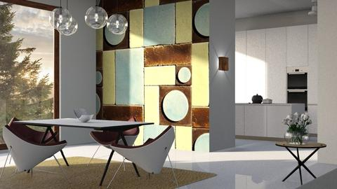Modern_Dining - Dining room - by ZuzanaDesign