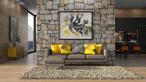 Black and Wood remix - Modern - Living room - by Saharasaraharas