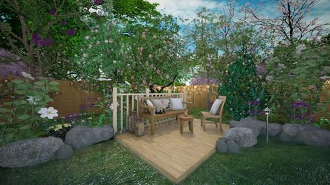 Deck and Pond - by thehomewhisperer