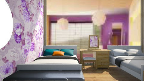 floral purpl - Bedroom - by lennielove