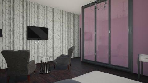 Modern Gothic - Bedroom - by Kaylee Gen