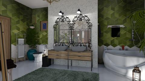 Mid Century Modern Bathro - Bathroom - by matina1976