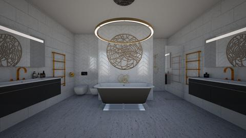 WHITE MARBLE BATHROOM  - Bathroom - by mide93