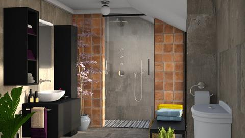 S_Attic Bathroom - Bathroom - by Shajia