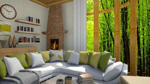 Green Living room - Living room - by moonissa
