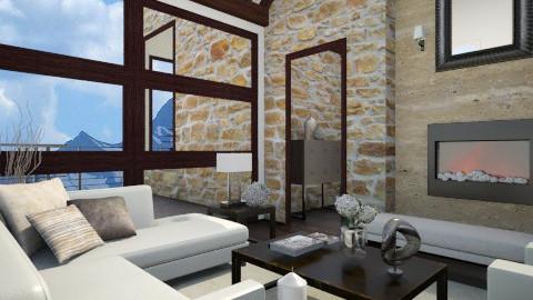 Modern Mountain Home - Modern - Living room - by Baustin
