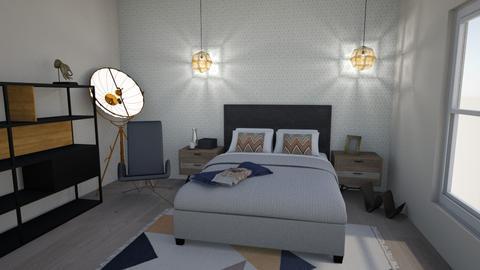 Industrial bedroom - Modern - by szaboesz