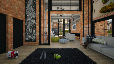 industrial house - Modern - Living room - by sometimes i am here
