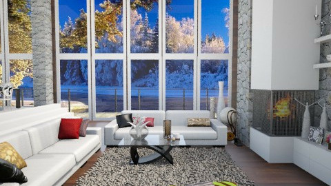 Winter - Living room - by Nufra