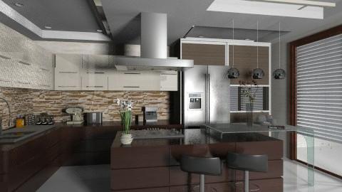 Wood and Stainyy - Modern - Kitchen - by Firuza Eva