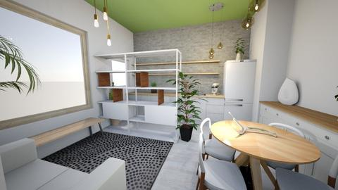 Novo Brancp Parede Cinza - Living room - by picroger