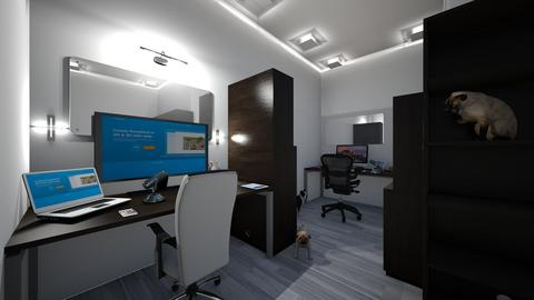 modern two office spaces  - Modern - Office - by jade1111