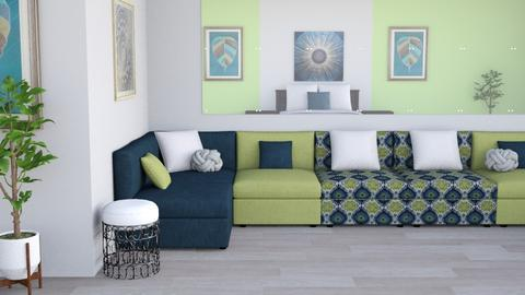 Room in the Mirror - Modern - Living room - by millerfam