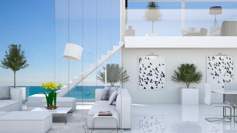 Miami Beach House - Living room - by GraceKathryn