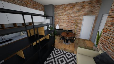 Sala dir 2 cadeira preta - Living room - by picroger