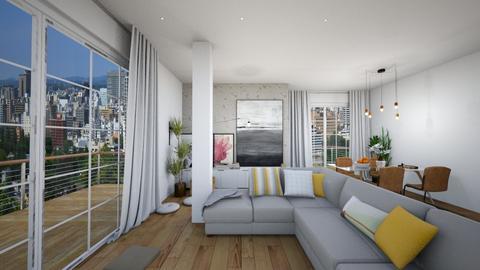 living with columns - Living room - by snikolovska98