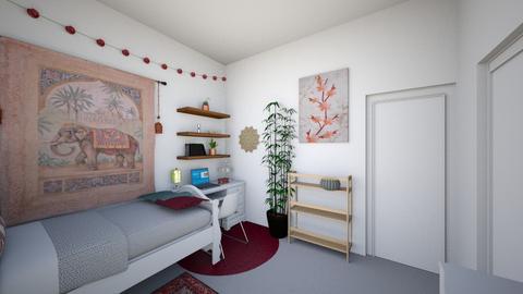 Boho small bedroom - Bedroom - by AbigailRoy10