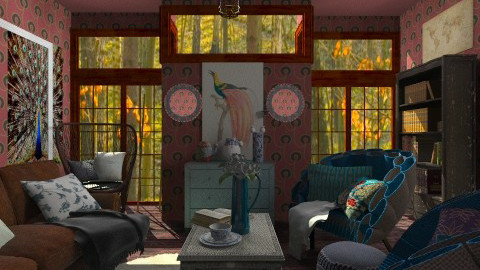 The peacock lives here - Vintage - Living room - by hetregent
