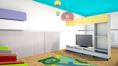 recepcion zona espera - Living room - by Astriid Ramos