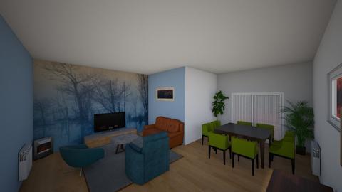 Sala January 2020 blue - Living room - by mozca