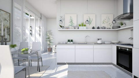 Kitchen with Patio - by Ania Daliva