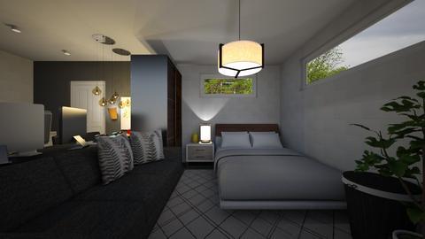 Bed and Hangout Room2 - Minimal - Bedroom - by ayudewi382