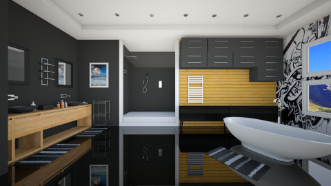 Black - Modern - Bathroom - by Nhezi