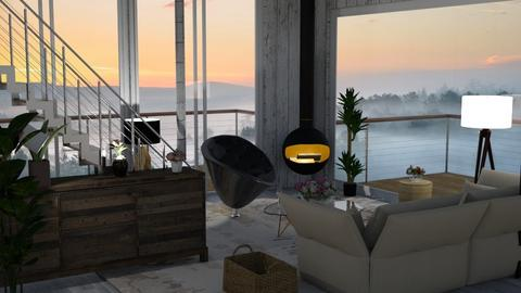 Fog sunset - Living room - by Sue Bonstra