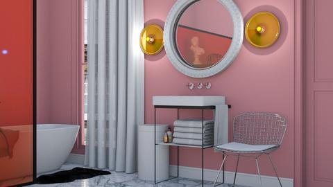 Pink Bathroom - Minimal - Bathroom - by HenkRetro1960