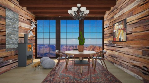 Wild West - Rustic - Dining room - by bgref