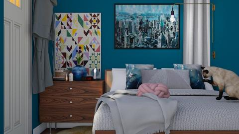 Small cozy bedroom - Retro - Bedroom - by HenkRetro1960