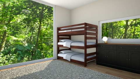triple - Modern - Bedroom - by Carole Fontaine