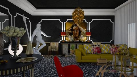 black n yelow - Eclectic - Living room - by soralobo