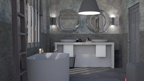 Grey Bathroom - Modern - Bathroom - by HenkRetro1960