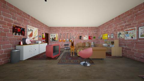 The Basement - Retro - Living room - by Megan Rose Weir