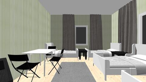 pokoj oliwkowy - Bedroom - by akloc2