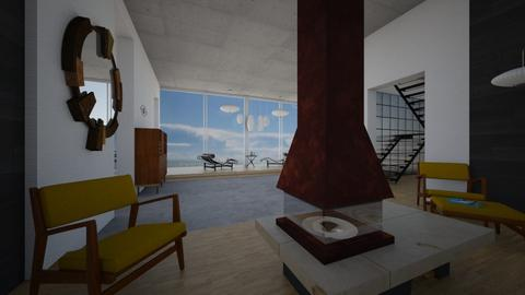 Cliff house thru view  - Minimal - Living room - by kitty