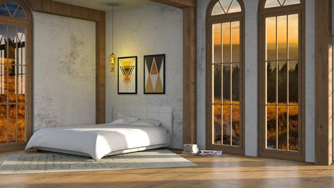 Wood Beams - Bedroom - by Twilight Tiger