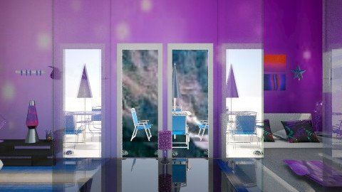 ice blue and purple - Living room - by Redecorations