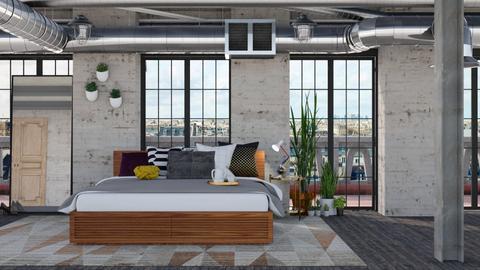 Warehouse bedroom - Minimal - Bedroom - by HenkRetro1960