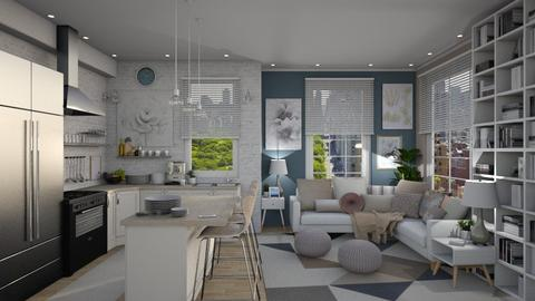 Lexington Blue - Eclectic - Living room - by Reagan Avery Ford