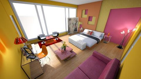 Retro Color Cut Outs - Retro - Bedroom - by KajsaRain