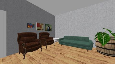 greens and browns - Living room - by BLOBy2