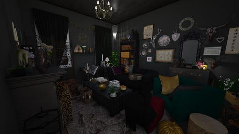 Dark Maximalism - Eclectic - Living room - by parsnips