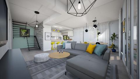 Andra Ciurea parter - Living room - by Flori Santa