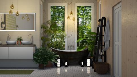 urban jungle bathroom  - Bathroom - by boho_dreamer